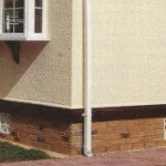 Detail of skirting work to Park Home